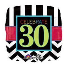 DiBella Flowers & Gifts Las Vegas - Celebrate 30 Mylar