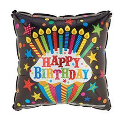 Happy Birthday Square Cupcake Mylar