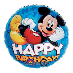DiBella Flowers & Gifts Las Vegas - Happy Birthday Mickey Chillaxing Mylar