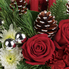 DiBella Flowers & Gifts Las Vegas - Florist Designed Holiday Centerpiece Not sure what to send? Let our creative designers choose for you.  *If you have any preferences, please let us know, otherwise we will pick only the freshest product we have on hand to create a design for you in holiday colors.  *Product will vary.