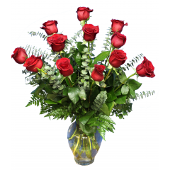 DiBella Flowers & Gifts Las Vegas - One Dozen Long Stemmed Roses *Please Specify Color * Valentines pricing may vary