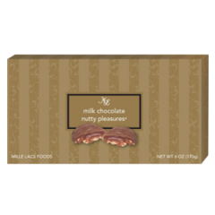 DiBella Flowers & Gifts Las Vegas - Milk Chocolates Nutty Pleasures 6 oz Layers of creamy caramel and roasted peanuts are covered in a smooth milk chocolate.  **Shop Favorite**