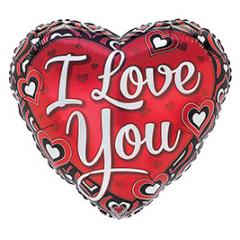 Infinity Hearts I Love You Mylar