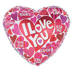 I Love You Messages Mylar