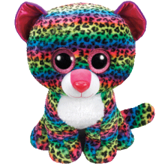DOTTY - multicolor leopard large Beanie Boo from Ty