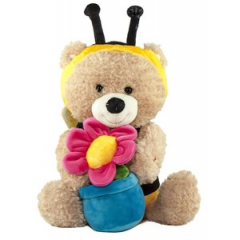 """Animated Singing And Dancing Bear in Bee Costume, Sunny Bee- by Cuddle Barn; Sings """"You Are My Sunshine""""  https://youtu.be/OKwUCImw7LQ"""