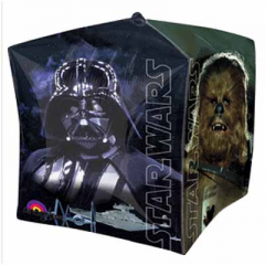 DiBella Flowers & Gifts Las Vegas - Here is The Force Awakens Star Wars Cubez Balloon in a cube shape measuring 15 inch in all 3 dimensions – a great addition to your Star Wars party decorations.