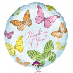 Show the butterfly lover in your life that you are thinking of them. Thinking of You Large Butterflies Mylar