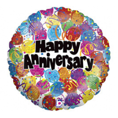 DiBella Flowers & Gifts Las Vegas - Festive and cheerful! Happy Anniversary Balloons & Confetti Mylar