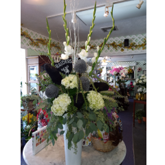DiBella Flowers & Gifts Las Vegas - Make a statement with this Raider's themed piece! Welcome to Las Vegas Raiders!!!