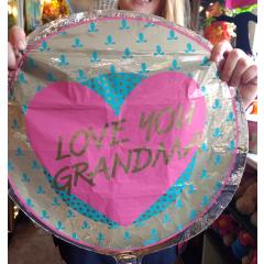 Love You Grandma Retro Mylar