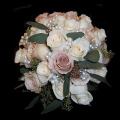 DiBella Flowers & Gifts Las Vegas - Named after our beautiful bride, Sara! Beige & Pearl