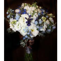 DiBella Flowers & Gifts Las Vegas - White & Blue Bouquet