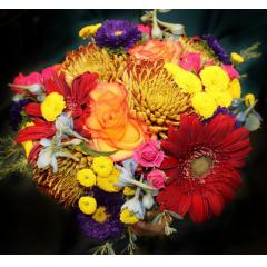 DiBella Flowers & Gifts Las Vegas - The Gina Bouquet! Bronze & Fall Mix