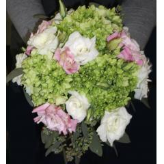DiBella Flowers & Gifts Las Vegas - Green Hydrangea & Lisianthus