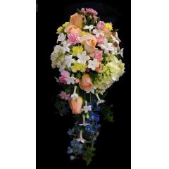 DiBella Flowers & Gifts Las Vegas - Peach, Blue & Yellow Cascade