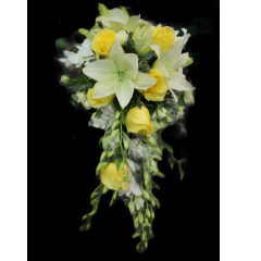 DiBella Flowers & Gifts Las Vegas - White & Yellow Cascade