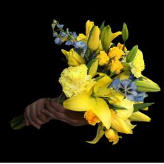 DiBella Flowers & Gifts Las Vegas - The Siciliano Bouquet! Yellow & Light Blue Bouquet