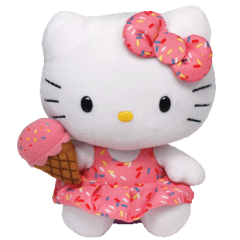 DiBella Flowers & Gifts Las Vegas - Ty's super adorable Hello Kitty Ice Cream Cone beanie baby Limited Edition