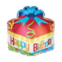 "DiBella Flowers & Gifts Las Vegas - 18""PKG HBD GIFT SHAPE"