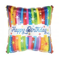 "DiBella Flowers & Gifts Las Vegas - 17""PKG HBD BOLD STRIPES ON SQUARE"