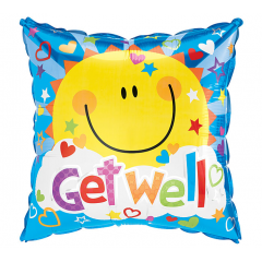 DiBella Flowers & Gifts Las Vegas - Get Well Soon Sunshine Mylar 17 inch