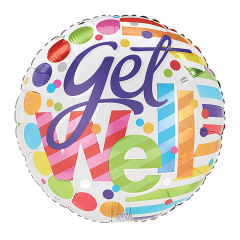 DiBella Flowers & Gifts Las Vegas - Get Well Soon Dots Mylar