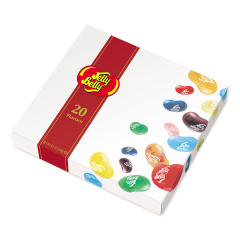 DiBella Flowers & Gifts Las Vegas - Jelly Belly 20 Flavor Box Sweet greetings come in a marvelous collection of 20 flavors of Jelly Belly jelly beans, each flavor nestled in its own pocket. Very Cherry, Juicy Pear and Cotton Candy are among the dazzling flavors. Also included is a menu with all the flavors of Jelly Belly and tasty ways to combine flavors to make your own taste sensations. A&W Root Beer - Blueberry - Bubble Gum - Buttered Popcorn - Coconut - Cotton Candy - Dr Pepper - Green Apple - Juicy Pear - Licorice - Peach -Pina Colada - Sizzling Cinnamon - Pomegranate - Strawberry - Cheesecake - Sunkist Lemon - Sunkist Tangerine - Toasted Marshmallow - Very Cherry -Watermelon