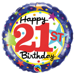 DiBella Flowers & Gifts Las Vegas - Happy 21st Birthday Mylar Stars