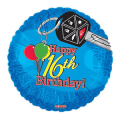 DiBella Flowers & Gifts Las Vegas - Happy 16th Birthday Mylar Keys