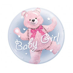 DiBella Flowers & Gifts Las Vegas - The perfect balloon add on to help welcome your new bundle of joy! This balloon is a bear shaped balloon inside of a clear balloon bubble.