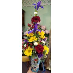 DiBella Flowers & Gifts Las Vegas - Day of the Dead Skulls Travel Mug