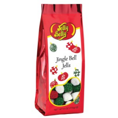 DiBella Flowers & Gifts Las Vegas - Jelly Belly Jingle Bell Jells. Champagne, green apple and raspberry jells with candy seeds. Red, white and green colors. No alcohol.