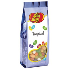 DiBella Flowers & Gifts Las Vegas - Jelly Belly Tropical Mix jelly beans in a 7.5 oz gift bag. Perfect present for candy lovers. Convenient size bag!