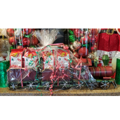DiBella Flowers & Gifts Las Vegas - Adorable keepsake tin train loaded with Jelly Belly Christmas treats!