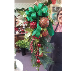 DiBella Flowers & Gifts Las Vegas - Christmas Door Swag- Easy to hang and perfect for the holiday!
