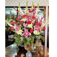 DiBella Flowers & Gifts Las Vegas - WOW! Them with this exquisite fresh mix of lilies, roses and more in a keepsake pedestal vase.