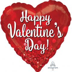 DiBella Flowers & Gifts Las Vegas - Valentine Sparkle Jumbo 28 inch Go big or go home