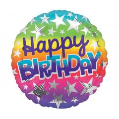 "DiBella Flowers & Gifts Las Vegas - 17""PKG BIRTHDAY OMBRE RAINBOW"