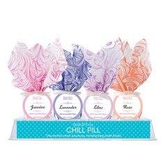 DiBella Flowers & Gifts Las Vegas - * Chill Pills are a luxurious addition to any bath * Moisturizing Sweet Almond Oil that leaves skin feeling soft * Just drop half in a full bath and watch the magic begin! * Chill Pills offer two baths per ball * Made in the USA  Hydra Aromatherapy Floral Chill Pill Bath Fizzies *Price is per chill pill *Please choose type or we will send out favorite