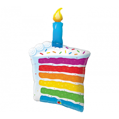 "DiBella Flowers & Gifts Las Vegas - 42""PKG HAPPY BIRTHDAY RAINBOW CAKE CANDLE OVERSIZED MYLAR"
