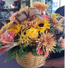 "DiBella Flowers & Gifts Las Vegas - Our big basket ""Full of Fall"" with autumn tones Spider Mums, Roses, Carns , Wheat and more!"