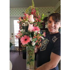 DiBella Flowers & Gifts Las Vegas - Keepsake rose vase full of pink blooms for someone special!