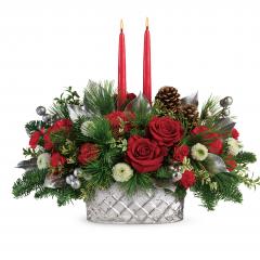 DiBella Flowers & Gifts Las Vegas - Merry Mercury Centerpiece