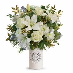 DiBella Flowers & Gifts Las Vegas - White Snowflake Bouquet