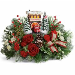 DiBella Flowers & Gifts Las Vegas - Thomas Kinkade Festive Fire Station