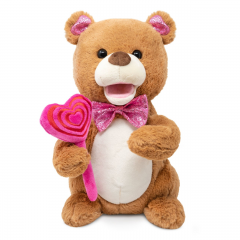 "DiBella Flowers & Gifts Las Vegas - 11"" Bear dances, lights up and sings to ""Sugar, Sugar""  Batteries Included.  https://youtu.be/nCWsrKbkxT8"