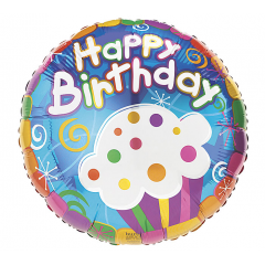 DiBella Flowers & Gifts Las Vegas - HAPPY BIRTHDAY CUPCAKE MYLAR
