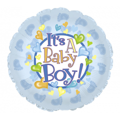 DiBella Flowers & Gifts Las Vegas - IT'S A BABY BOY FOOTPRINT MYLAR