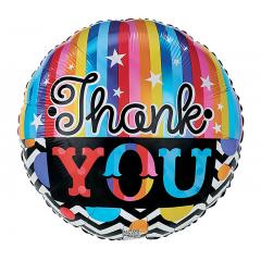 DiBella Flowers & Gifts Las Vegas - THANK YOU RAINBOW STRIPES MYLAR